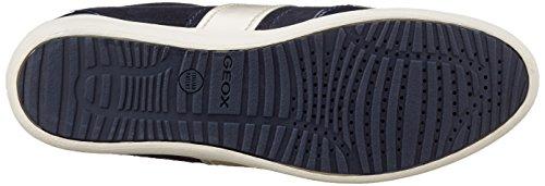 Geox D myria A, Sneakers Basses Femme Bleu (Dk Navy C4021)