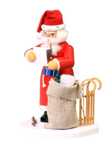 Räuchermann Weihnachtsmann mit Schlitten und Geschenke