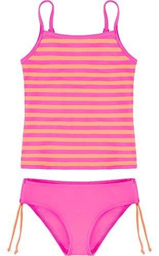 Merry Style Mädchen Tankini MSVRKind4 (Rosa/Lachs, 140) -