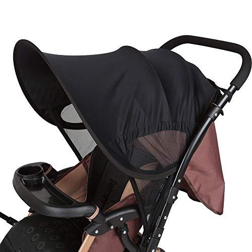 Lemeso parasole passeggino universale, telo parasole per carrozzina con protezione raggi uv 50-66cm x 80cm