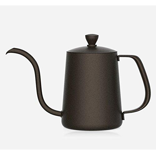 TAMUME 350ml Tropfwasserkocher mit 4MM Tülle Drip Kettle Antihaft Beschichtung für Drip Kaffee und...