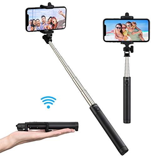 Mpow Selfie Stick Bluetooth, Leichter ausziehbarer 31,9-Zoll-Einbeinstativ mit Bluetooth Fernbedienung, Mini Selfie Stange für iPhone 11/11 PRO/11 PRO MAX/XR/XS Max/X/8/7/6, Galaxy S10/9/8/7/6 usw.