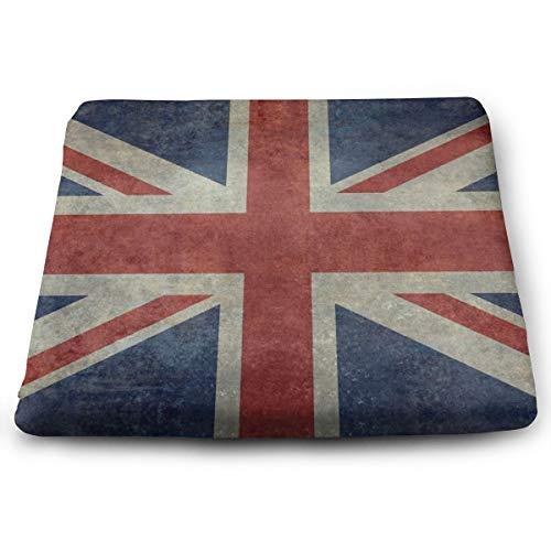Sitzkissen/Sitzkissen, Motiv Englands Union Jack/Nationalflagge des Vereinigten Königreichs, Retro-Version Memory-Schaum, für Büros, für Sitze -