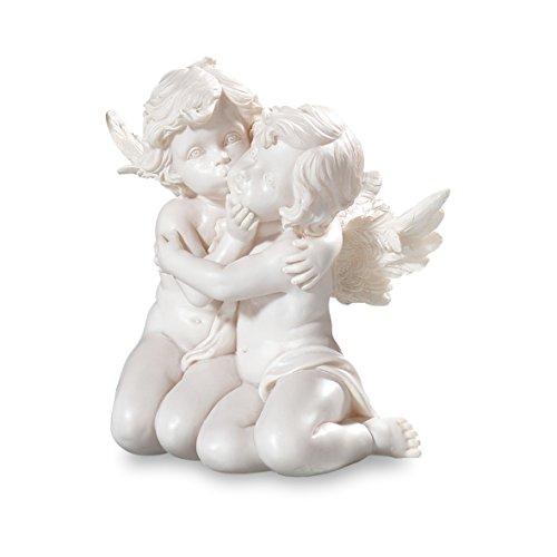 Pajoma 49162 angelo decorativo, coppia, inginocchiati, altezza 15 cm