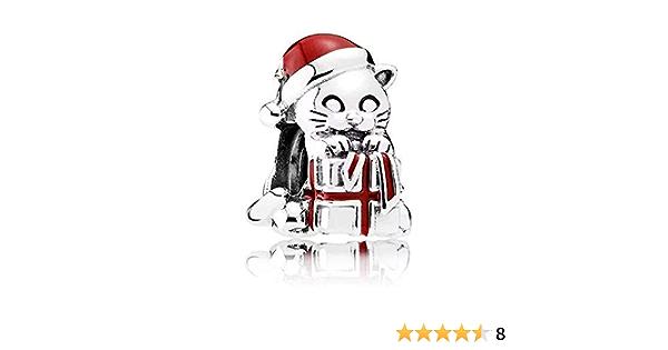Pandocci 2016 Winter Weihnachten Kätzchen Perlen Passt Pandora Reize Armbänder Berry Rot Ename Charme Perlen Für Schmuck Herstellung Sport Freizeit