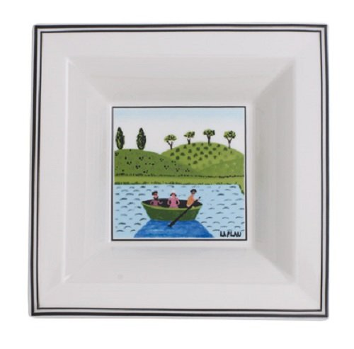 Villeroy & Boch Design Naif Gifts Cazoleta cuadrada, Porcelana Premium, Blanco/Colorido