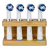 Zahnbürstenhalter aus Bambus für ORAL-B-Zahnbürstenköpfe. Kunststofffreier, umweltfreundlicher, handgefertigter Halter für Köpfe elektrischer Zahnbürsten. Für bis zu vier Zahnbürstenköpfe
