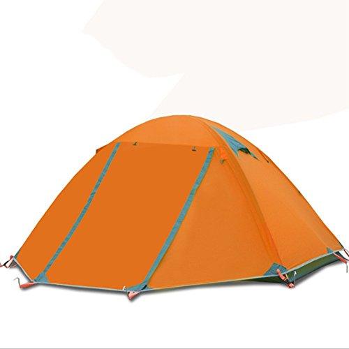 Hinzu Sie Konto Ein Fügen (2 Personen 4 Jahreszeiten Double Skinned Aluminium Rod Outdoor Campingzelt Wasserdicht Winddicht Band Schnee Rock,Orange)