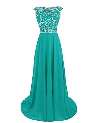 Dressystar ds80807white20W–Robe pour femme Turquoise