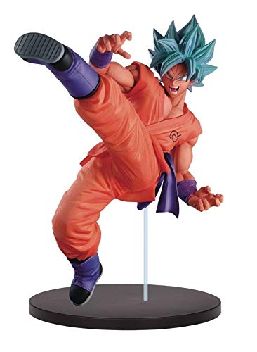 DRAGON BALL Figura de Colección 20cm SON GOKU Super Saiyan GOD Azul G