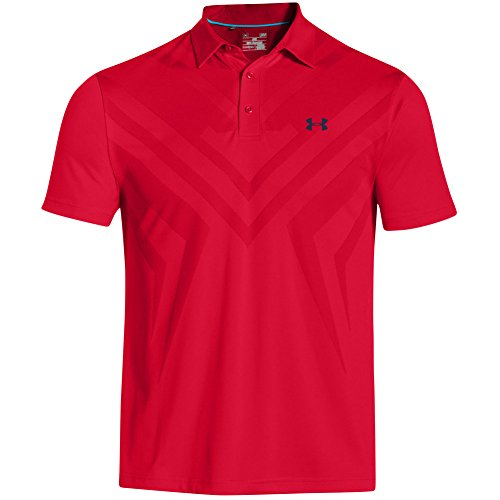 Under Armour 2015 Herren 'Jordan Spieth US Open' Golf Polo Shirt COLLECTION S Red (Saturday)