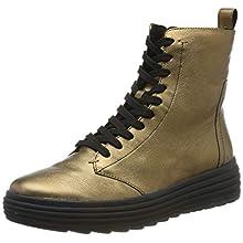 Geox Women's D PHAOLAE A Biker Boots, Brown (Bronze C6008), 5 UK