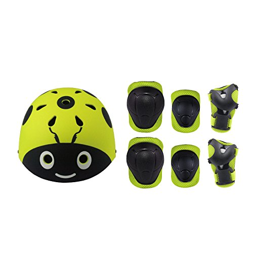 Skateboard Helm Protektoren Set Für Kinder, UniEco Schutzset Ellenbogenschützer Handgelenkschoner Knieschoner für Skate, Fahrrad, Radfahren, Reiten, Skateboard, Roller Skate - Professionelle Elbow Pad