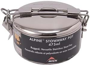 MSR Alpine StowawayCasserole de randonnée, acier inoxydable