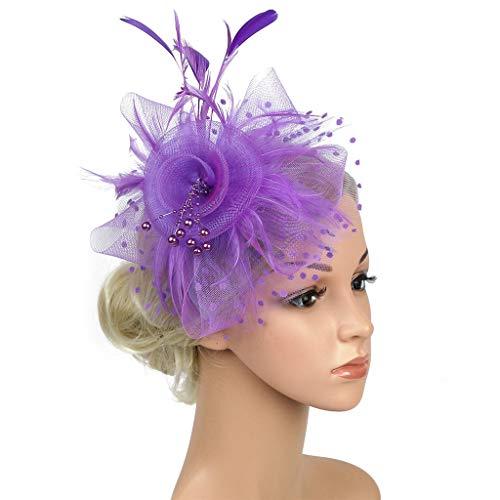 Malloom Dame Vintage Kopfstück Feder Haar Zubehör mit -
