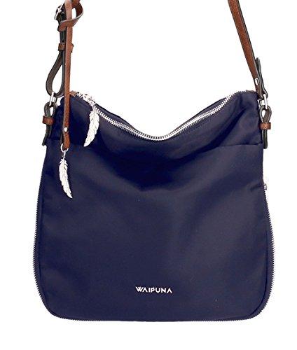 Waipuna , Borsa Messenger  beige taupe / taupe blue / blau