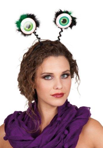 Karneval Zubehör Haarreif Glubschaugen zum Alien Kostüm (Komplette Alien Kinder Kostüm)