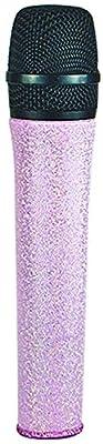 MicFX SF023 Glitter Wireless Microphone Sleeve - Soft Pink