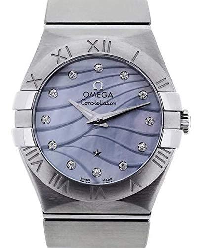 Omega costellazione blu madreperla quadrante acciaio mens orologio 12310276057001