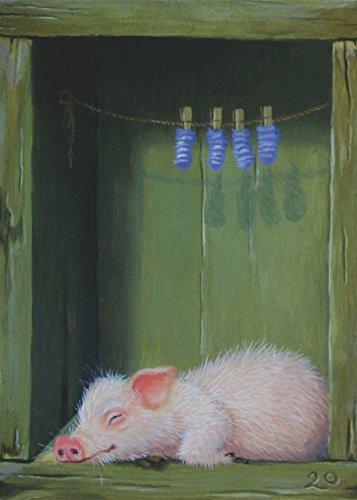 """Postkarte A6 • 17809 """"Piggie"""" von Inkognito • Künstler: Suzan Visser • Liebe & Romantik"""