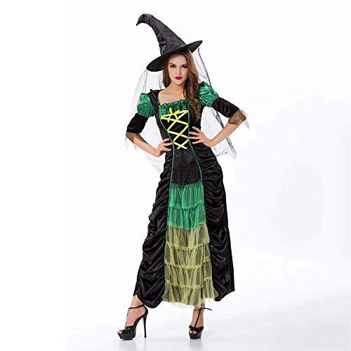 en Hexe Kostüme Weihnachten Karneval Kleidung Fantasie Infantil Erwachsene Frauen Vampire Cosplay Party Kleid ()
