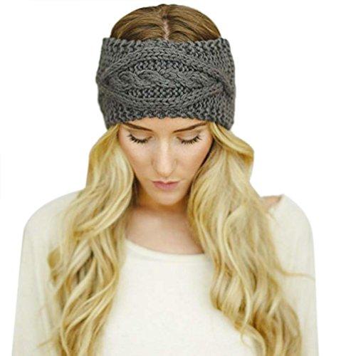 Hair Accessories, Kolylong® Cap Chaud De Ski Chapeau Femmes D'Hiver Tricoté Empty Skull Beanie Bandeau (Gris fonce)