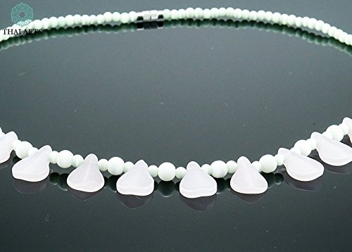 """Halskette """"Ko Rong Khon"""", Kette für Frauen (Glasperlenkette aus Handarbeit), exklusiver Schmuck mit Perlen für Frauen mit Stil. Handgefertigte Perlenkette aus Thailand"""