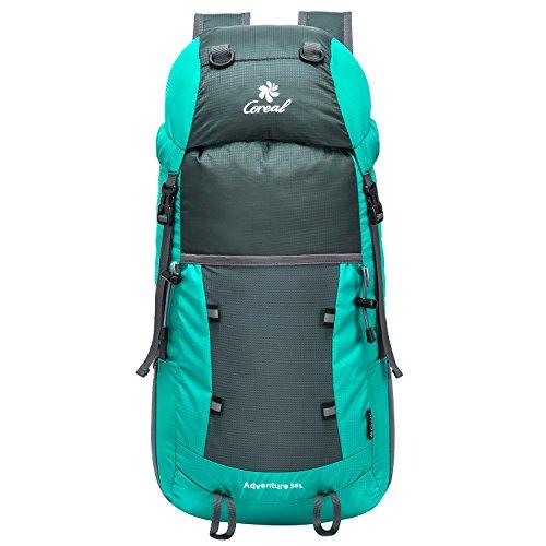 35L Tagesrucksack Faltbare Rucksack mit Wanderrucksack Fassungsvermögen aus Strapazierfähigem Nylon Daypack Unisex Light Cyan