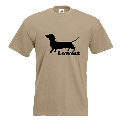 KIWISTAR - Lowest T-Shirt in 15 verschiedenen Farben - Herren Funshirt bedruckt Design Sprüche Spruch Motive Oberteil Baumwolle Print Größe S M L XL XXL Khaki