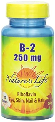 B-2 Riboflavin, 250 mg, 100 Tablets by Nature's Life