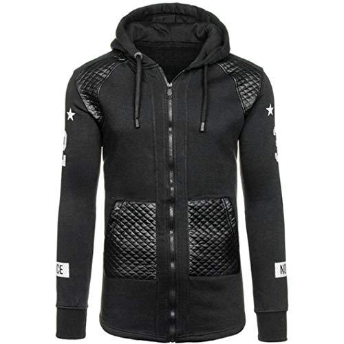 Uomogo felpa con cappuccio uomo, 2018 hooded sweatshirt manica lunga hoodie cappotto giacca pullover felpe top teen