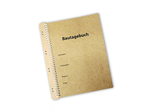 Bautagebuch als Ringbindung inkl. Abheftvorrichtung (1 Bautagebuch)