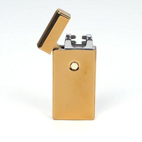 Sporttechnik USB elektronisches Feuerzeug aufladbar Lichtbogen in gold (Revolver Flaschenöffner)