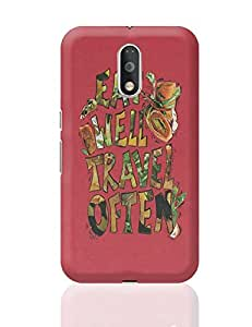 Posterguy Eat Well Travel Often Covers & Cases For Moto G4 Plus (Red) Designed By: Artiliciouslyyours