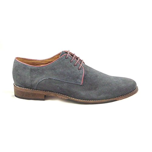 Lotus Hermon Navy Suede Lace-Up Shoe 8