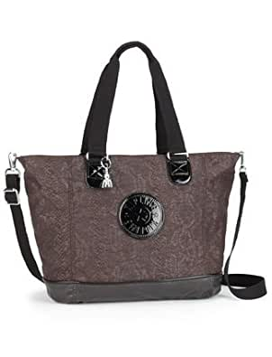 Femmes Kipling Shopper Combo sac à main marron serpent