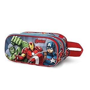 Artesania Cerda Plumier Triple 3D Avengers Bolsillo Suelto para Mochila 24 cm Rojo