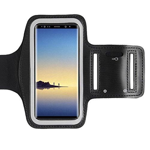 CoverKingz Armtasche für Samsung Galaxy Note 8 Sportarmband mit Schlüsselfach, Laufarmband, Sport Handyhülle, Handy Armband Schwarz