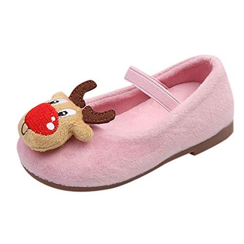 (Kinder (21-30) Weihnachten Turnschuhe, Quaan Baby Säugling Kleinkind Mädchen Hirsch Weihnachten Prinzessin Warm Schuhe Rutschfest Mesh Niedlich Weich atmungsaktiv Beiläufig Reise Festival Turnschuhe)
