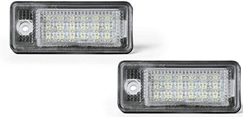 LED Kennzeichenbeleuchtung Kennzeichenleuchte passend für A3/S3,A4/S4/RS4,A5,A6/C6,A8/S8,Q7 mit eingebautem CAN-Bus-Widerstand