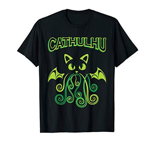 Cathulhu Shirt Katze Dämon Kater Mietz Krake Monster Oktopus T-Shirt