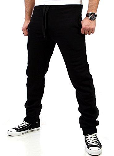 Reslad Jogginghose Herren Trainingshose Männer Sporthose Sweatpants Jogger Pants Freizeithose für Gym & Fitness RS-5060 (XL, Schwarz)