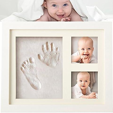Bilderrahmen Kinder Newlemo Gipsabdruck Baby Hand und Fuß Rahmen Lustige Geschenk Geburt des baby abdruck Bilderrahmen (3 gitter, weiß)