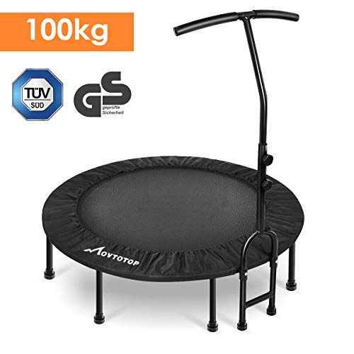 MOVTOTOP Fitness Trampolin, 40/48 inch Indoor Trampolin, Faltbar Mini Fitness Trampolin, Trampolin für Zuhause (40 INCH)