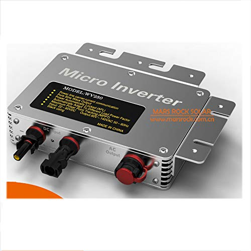 Wenhu IP65 260W Rasterfeld-Riegel Mikro-Inverter, 22-50VDC AC190-260V Rein Sinus Wechselrichter mit hohem Wirkungsgrad MPPT für 200-300W PV-Panel