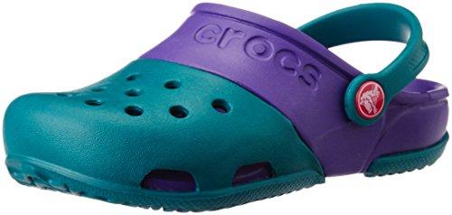 crocs Electro II Clog (Toddler/Little Kid), Juniper, 4 M US Toddler (Usa Crocs)