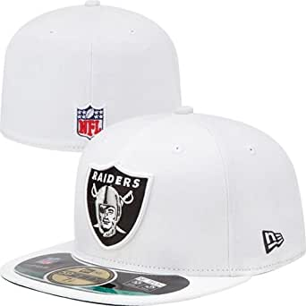 New Era NFL on Field Oakland Raiders Cap 6 7/8 white