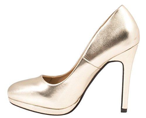 Elara - Scarpe con plateau Donna Gold