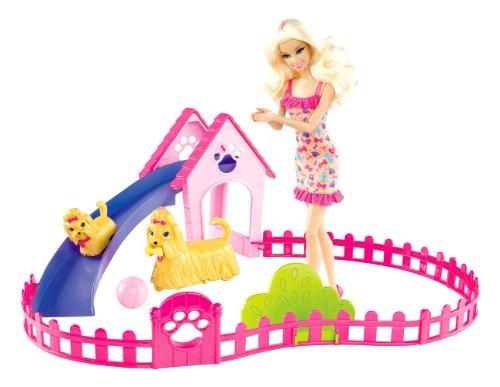 Barbie DMC32-Bambola Nuota coi Cuccioli, DMC32