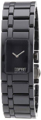 Esprit EL101342F02 - Reloj analógico de cuarzo para mujer con correa de plástico, color negro